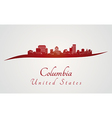 Columbia skyline in red vector image