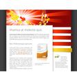 dynamic website vector image