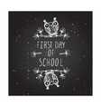 First day of school poster vector image