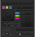 Dark User interface vector image vector image