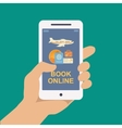 Booking online travel or ticket vector image