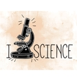 Hand drawn science laboratory microscope icon vector image