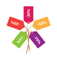 sign of discounts sales vector image