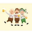 cartoon men oktoberfest icon graphic vector image