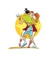 Couple dancing Latin American dance vector image