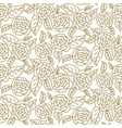 floral rose wedding seamless pattern vector image