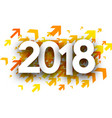 orange 2018 new year background vector image