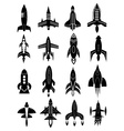 Rocket icons set vector image