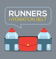 Runners Hydration Belt vector image
