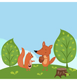 Summer forest background vector image
