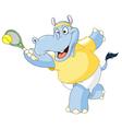 tennis hippo vector image