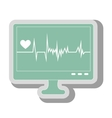 waves cardiology machine icon vector image