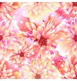 Seamless floral background Dahlia vector image