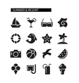 Summer and resort icons set vector image