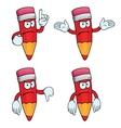 Angry cartoon pencils set vector image