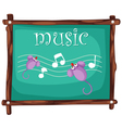 Music notes on blackboard vector image vector image