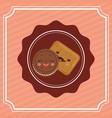 sweet dessert cartoon vector image