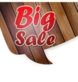 Glossy brown wood speech bubble vector image vector image