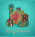 set of cartoon christmas gifts vector image