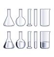 object flasks vector image