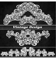 Vintage design elements on a grunge background vector image