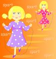 a cartoon girl vector image