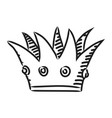 cartoon image of crown icon crown symbol vector image