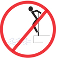 do not clamber Not Allowed Sign warning symbol vector image