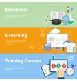 Flat concepts for education vector image