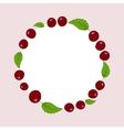 hand drawn cherries label vector image