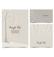 invitation card with tree vector image