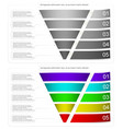 modern style infographic funnel vector image