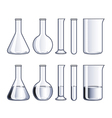 object flasks vector image