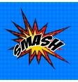 retro cartoon explosion pop art comic smash symbol vector image