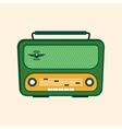 Green Retro Radio Flat Design vector image