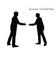 man in Business Handshake pose vector image