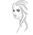 Strict beautiful girl vector image vector image