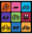 Trendy hipster Icons With Long Shadow vector image vector image