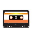 Cassette tape isolated on a white background vector image