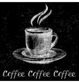Hand drawn coffee cup vector image vector image