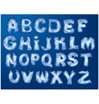 Alphabet for Merry Christmas and New Year design vector image