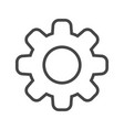 gear thin line icon vector image