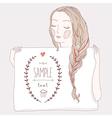 girl plait banner vector image