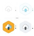 Upload cloud icon 4 design vector image