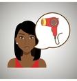 woman accessories hairdryer vector image