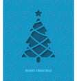Paper cut Christmas tree vector image vector image