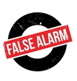False Alarm rubber stamp vector image vector image