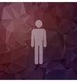 Man in flat style icon vector image vector image
