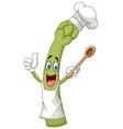 Cartoon asparagus chef vector image