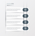 Rounded Modern infographics banner Set white color vector image